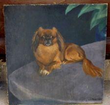 Portrait de chien (Carlin ou pékinois?)signé de Maurice TAQUOY 1878-1952