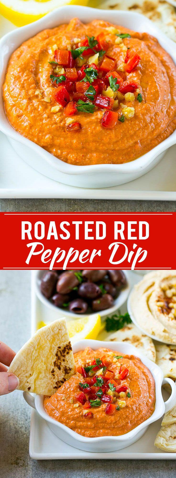 Muhammara Recipe | Roasted Pepper Dip | Roasted Pepper Recipe | Dip Recipe | Appetizer
