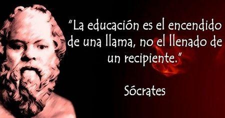 Frase bonita de Sócrates sobre la educación