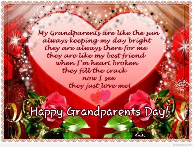 Grandparents Day Greeting Messages Verses Grand Parents Day