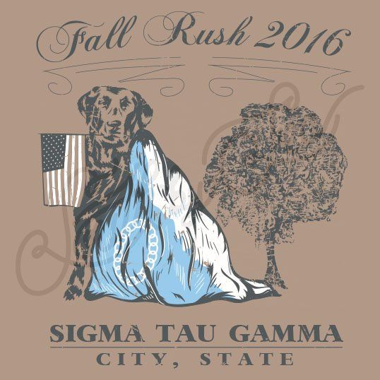 Fraternity Recruitment Sigma Tau Gamma Dog Flag South By Sea