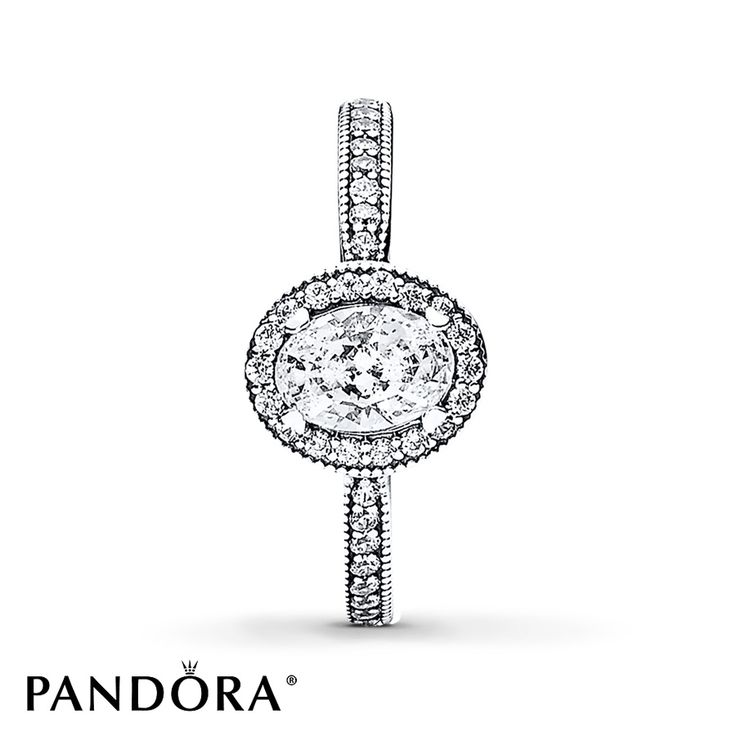 Vintage-style rings are making a huge comeback and this elegant oval-cut sterling silver ring from the PANDORA 2016 Winter Collection is a beautiful example. Romantic and distinctive, its regal curved shape will add sophistication to your ring stylings and appear to visually elongate your fingers. Additional sizes may be available through special order at your nearest Jared location. Style # 191017CZ-54. Definitely one of my favorite!!