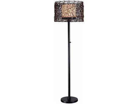 Kenroy Home Tanglewood Bronze Outdoor Floor Lamp
