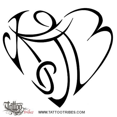 If I was to ever do a tattoo I would do something like this using my children's first letter of their name.