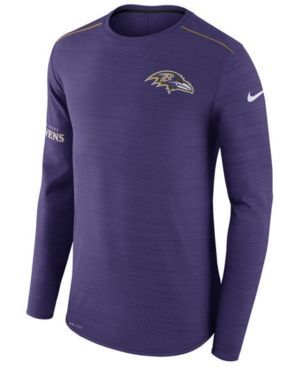 Nike Men's Baltimore Ravens Player Top Long Sleeve T-Shirt - Purple M