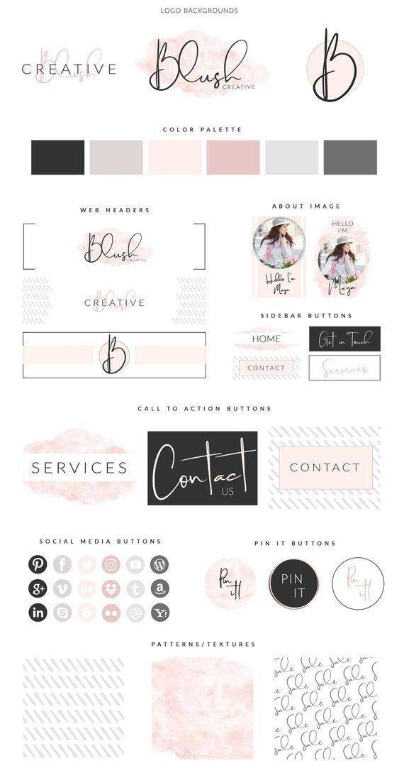 Canva Diy Website Branding Kit Blog Brand Brand Kit Logo