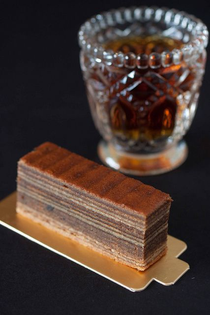 Beautiful shots of a baumkuchen - home broiler version. Apricot jam is very tasty with a vanilla flavored cake.