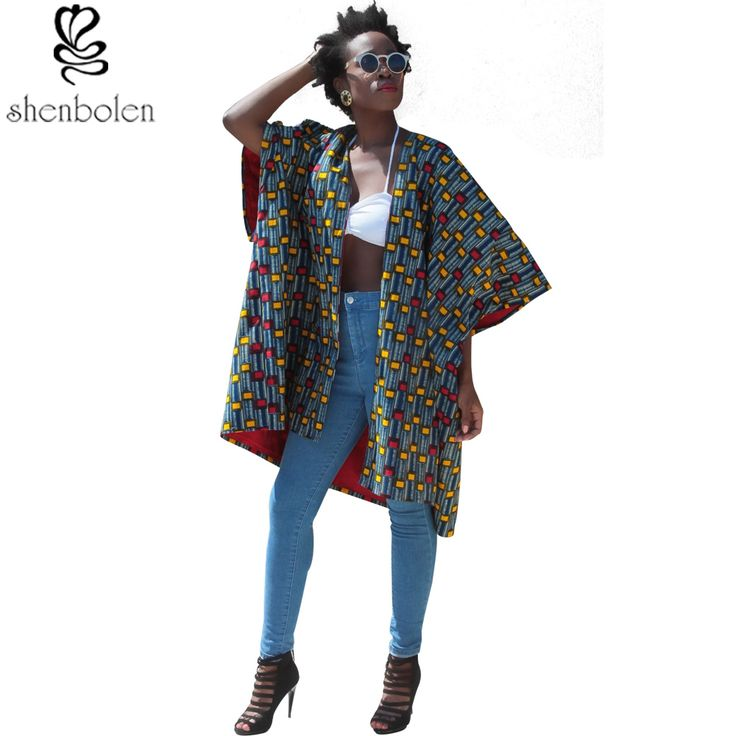 spring autumn summer 2016 Women Coat African clothing ankara wax printing batik cotton short sleeve loose surcoat free shipping