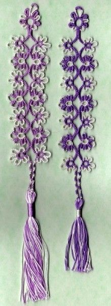 Tatted bookmark pattern.