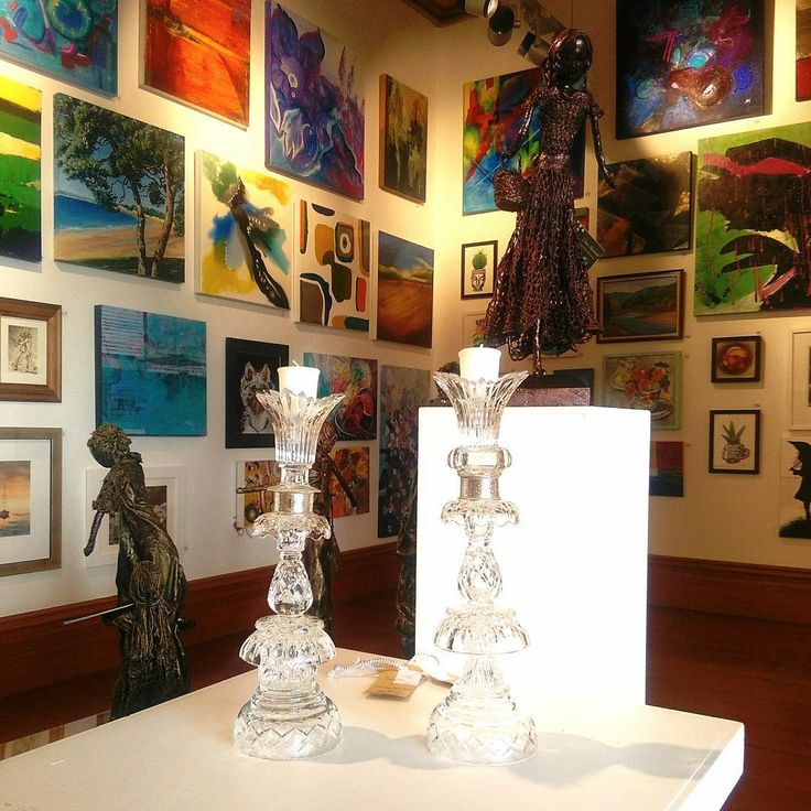 Beautiful candlesticks, sculpture and paintings covering the walls of @lakehousearts for our fundraising art sale: ARTiculate-a picture is worth a thousand words, to benefit the UpsideDowns Education Trust. On til June 12  #art #artforeveryone #painting #charity #charityevent #artsale #exhibition #give #help #build #contribute #grow #benefit #community