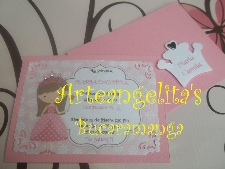 invitaciones princesa