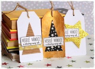 Vánoční tipy - dárkové visačky | Nech se inspirovat... | Scrapbooking | Užitečné odkazy, tipy a triky | Polymerová hmota, kurzy fimo, eshop – Nemravka