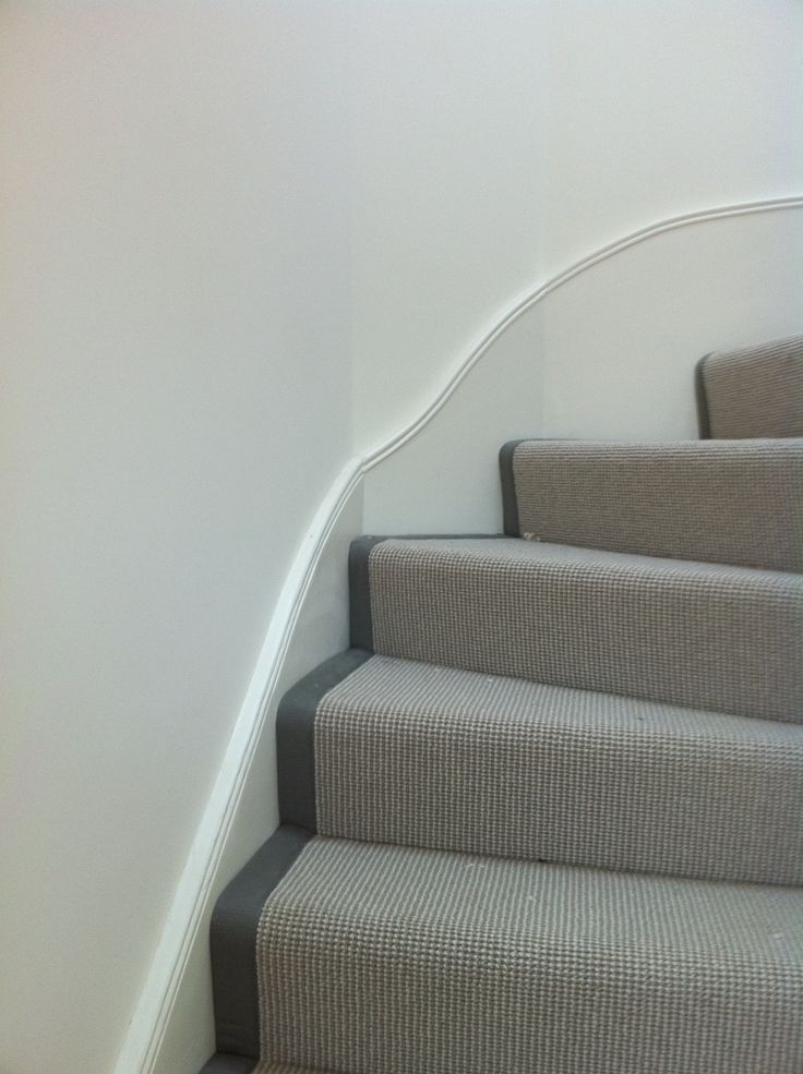 Grey Stair Runner With Grey Binding By Bu0026R Carpet Company #grey #carpet # Stairs