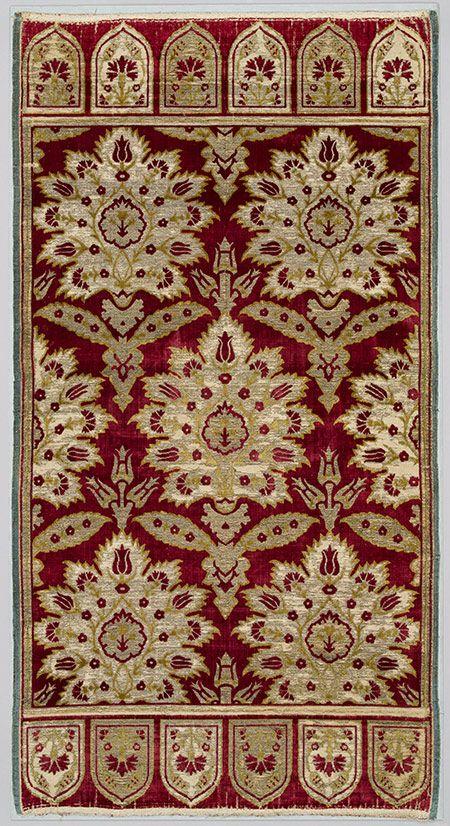 Velvet cushion cover [Turkey, Bursa] (17.120.123) | Heilbrunn Timeline of Art History | The Metropolitan Museum of Art