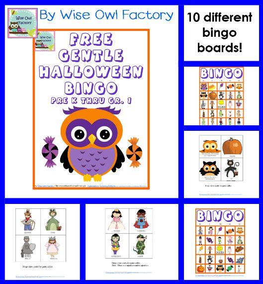 halloween bingo game free - Preschool Halloween Bingo
