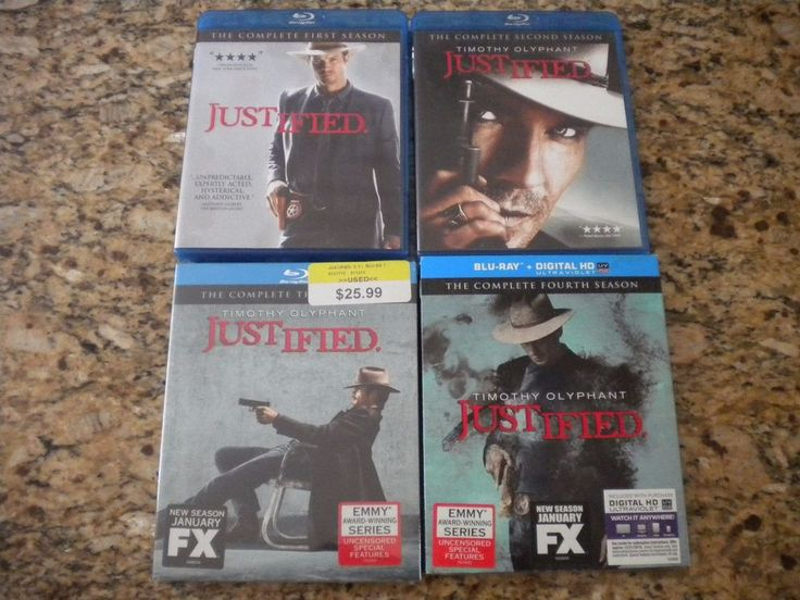 Justified Season 1 2 3 4 blu ray set