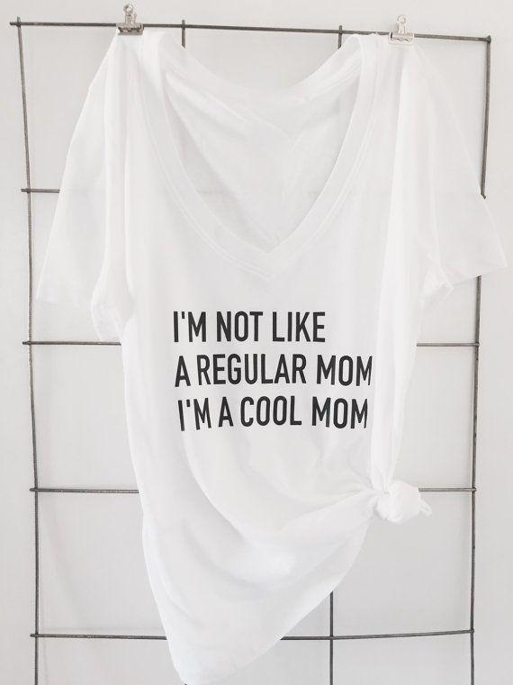 Not Like a Regular Mom Cotton V Neck T Shirt These t shirts are Forever 21 Brand Classic V Necks. Runs Small.