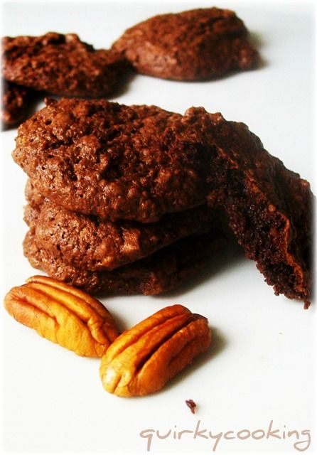 Quirky Cooking: Flourless Chocolate Brownie Cookies