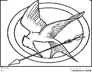 hunger games printable coloring pages | Hunger Games Coloring Pages Logo | Coloring Pages ...