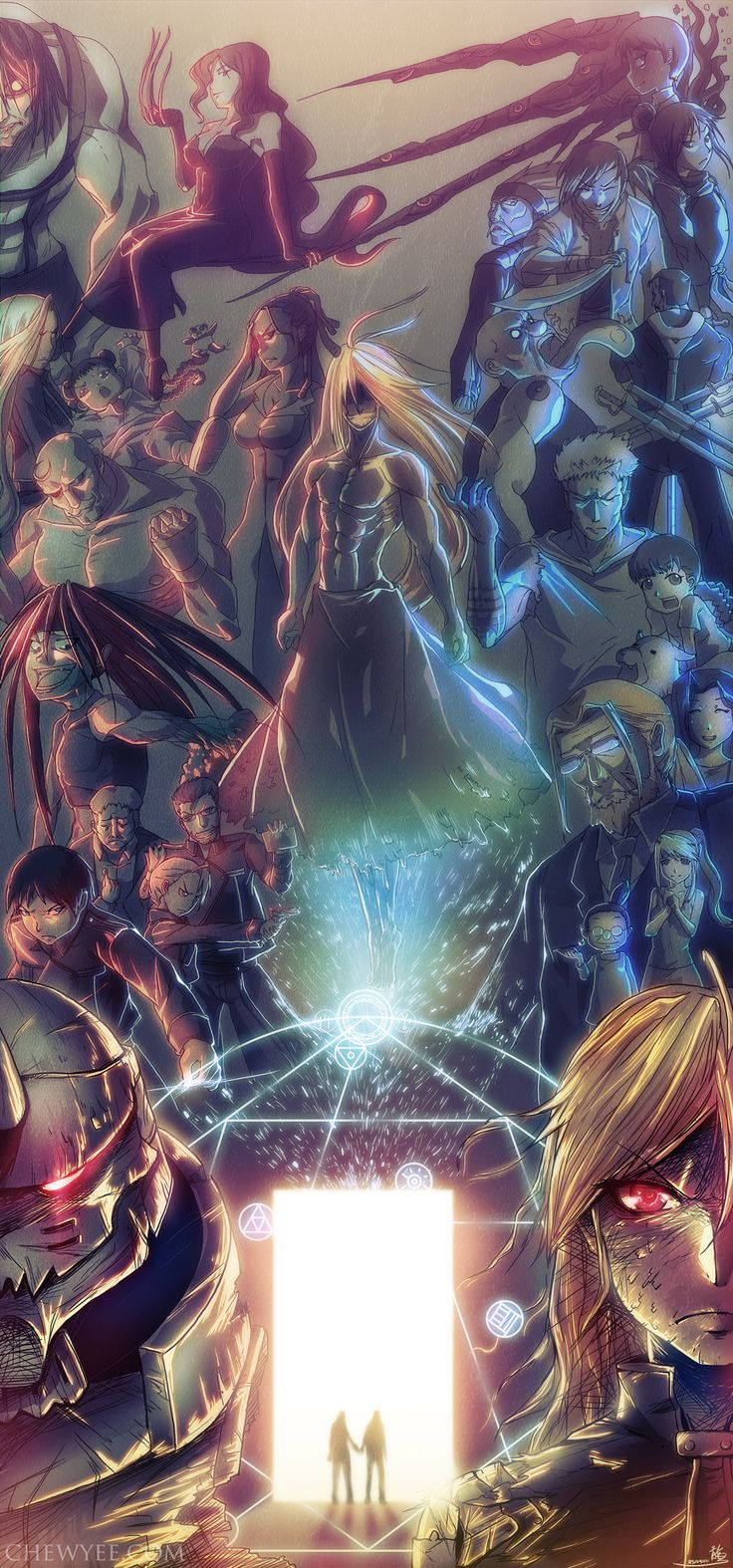 Full Metal Alchemist poster<< This has got to be the sickest piece of FMA fanart I've ever seen.