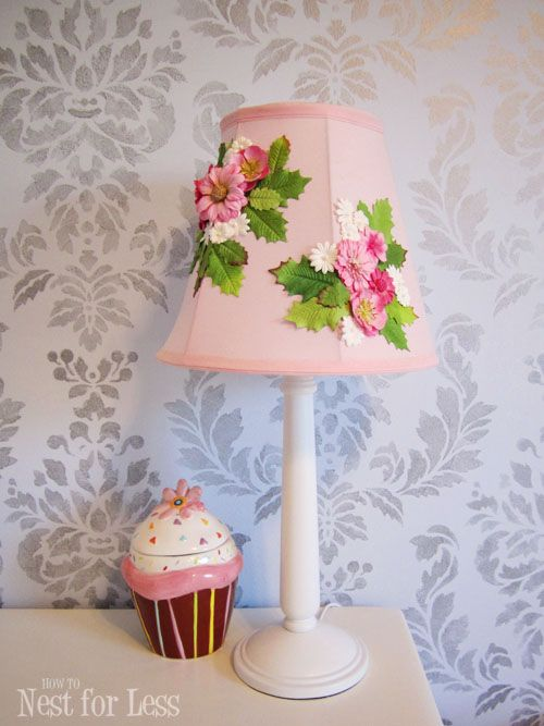 anthropologie flower lamp shade