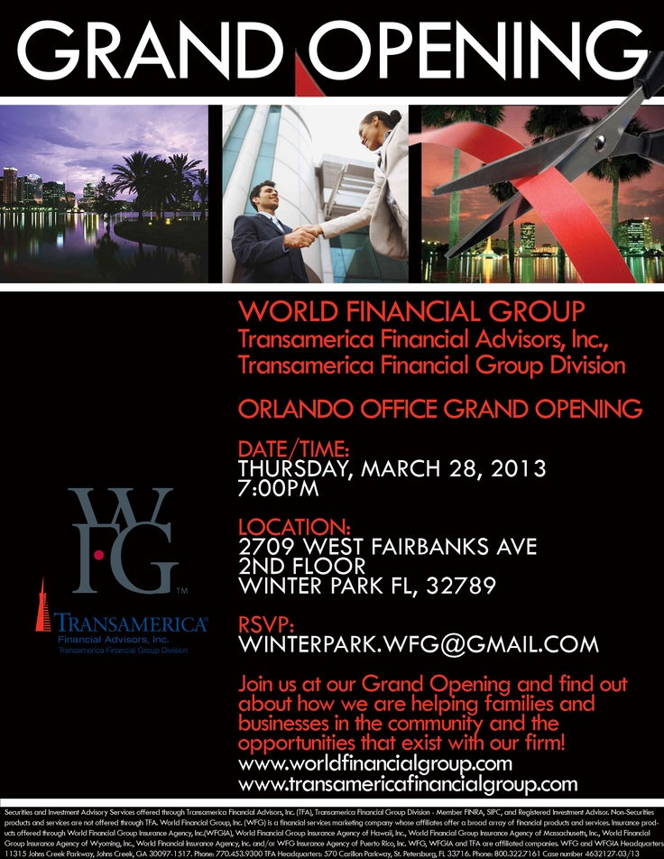 Wfg Orlando Grand Opening  Business    Grand Opening