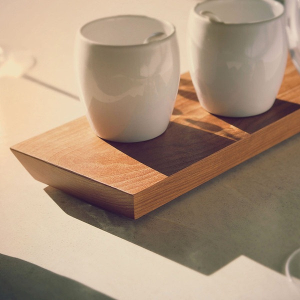 a tray and a cutting board