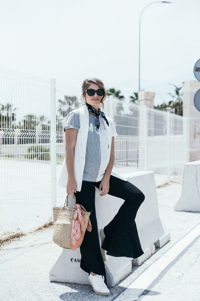 formal vest with a cotton tee | Seams for a desire | Bloglovin'