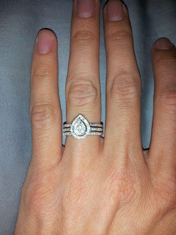 my pear engagement ring wedding set - Pear Shaped Wedding Ring Sets