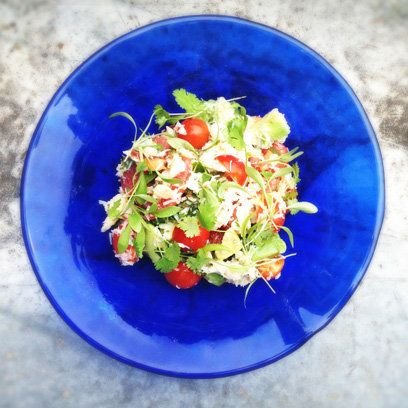 Laura Pope's crab salad with avocado, tomato and grapefruit recipe from 'Gluton Free Me'