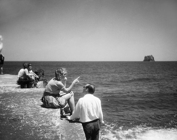 "Ingrid Bergman and Roberto Rossellini during the movie ""Stromboli"" | Sicily, 1949"