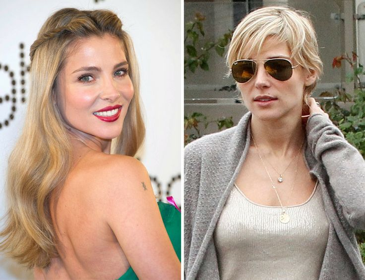 Elsa Pataky,  now: new garçon style.   before: attending the ghd charity gala