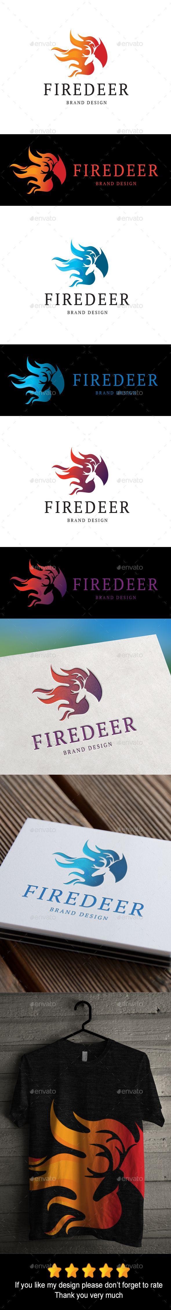 Firedeer Logo Template Vector EPS, AI. Download here: http://graphicriver.net/item/firedeer-logo/15715817?ref=ksioks