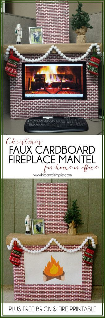 Christmas Faux Cardboard Fireplace Mantel December 2, 2015 By: Jessikacomment