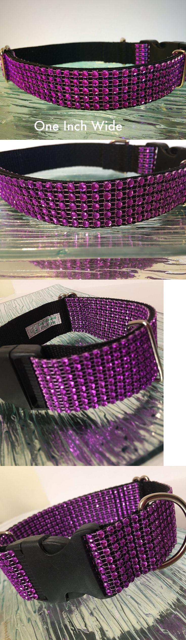 Collars 63057: Rhinestone Purple Bling Dog Collar Sparkly Crystal Fancy Elegant Glam Usa -> BUY IT NOW ONLY: $33.99 on eBay!