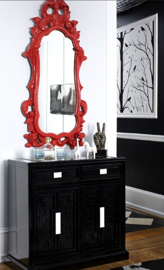 Mirrors Chloe Style Dining Diningroom Diningdecor Homedecor Red