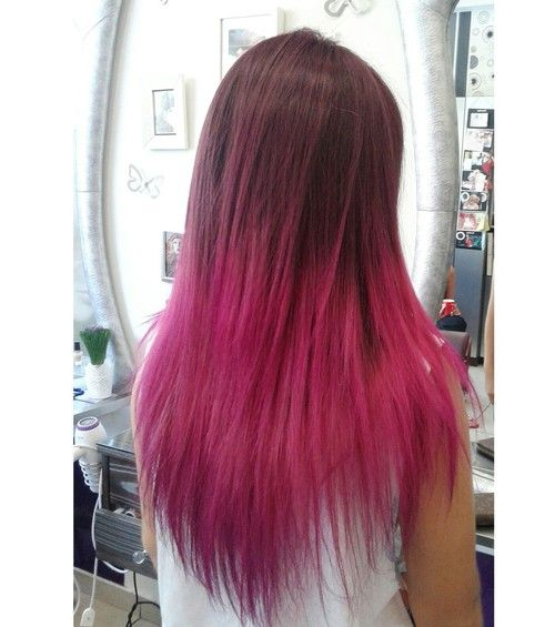 Love ombre ❤  @ http://www.hairstyles-haircuts.com/