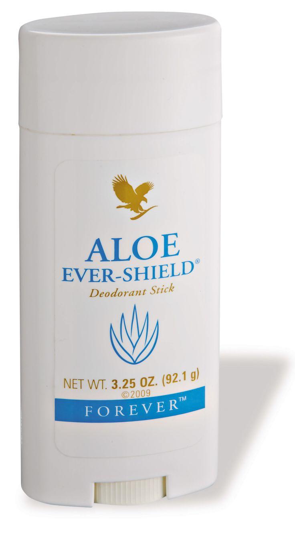 De Aloe Ever-Shield Deodorant Stick geeft u de hele dag effectieve bescherming en een fris gevoel. Deze huidvriendelijke maar krachtige deodorant is niet-irriterend en laat geen vlekken achter in uw kleding. De formule, gebaseerd op gestabiliseerde aloë vera gel, bevat geen aluminiumzouten of alcohol zoals in anti-perspirant deo's gebruikelijk is en geeft tevens een rustgevend effect na het scheren of waxen.