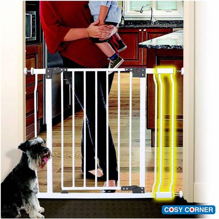 Liberty Pressure Mounted Πόρτα Ασφαλείας - δεν απαιτείται εγκατάσταση, μιας και εφαρμόζει με πίεση. Κατάλληλη για ανοίγματα από 75 έως 84εκ, και με προεκτάσεις φθάνει μέχρι 136εκ. http://goo.gl/Q3eo8C