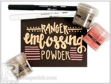 How to Use Embossing Pens In Rubber Stamping Projects
