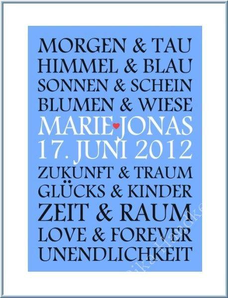 Kunstdruck+Bild+Hochzeit+Hochzeitsgeschenk+Poster+von+ZEIT-RAUM+auf+DaWanda.com