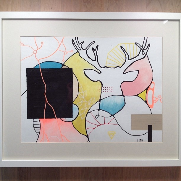 Akryl på papir #acrylics #deer #diamond #Padgram