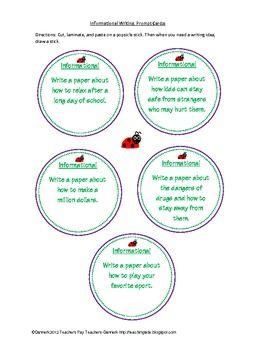 120 common core writing prompts cards (bundled set)! - dannerk - TeachersPayTeachers.com
