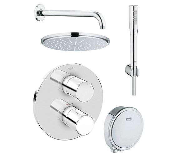 Grohe Grohtherm 3000 Cosmopolitan Bath And Shower Solution Pack 2