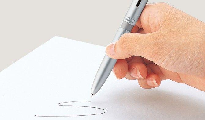 書く捺すを一本でスピーディーにネーム印付き多機能ペンShachihata