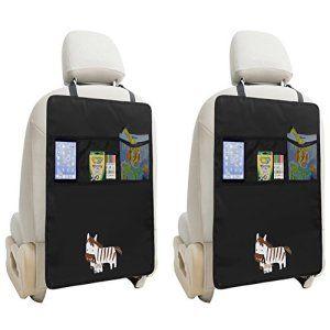 ZUOAO 2 Pcs Housse de Siège arrière Protecteur Siège Auto Voiture De Couverture De Protection Pour Les Enfants Impermérable Matériaux…