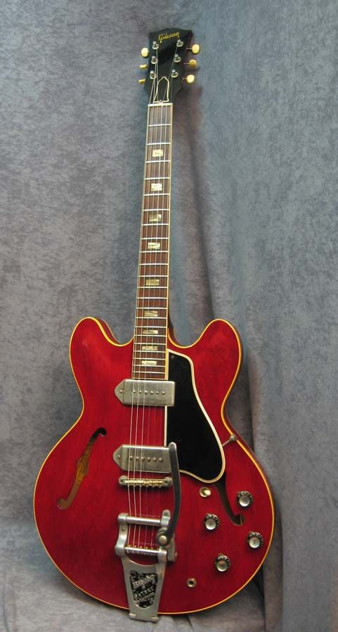 1964 Gibson ES-330 Red with Black pick guard. Chrome hardware.