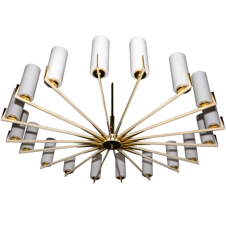 1950 39 s large chandelier edited by arredoluce from a for Arredo luce