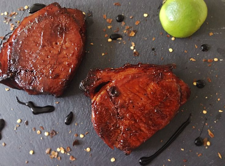 Balsamic Pork Loin Steaks - the marinade for these pork loin steaks are quick and easy to make. The Balsamic, Lime and Chilli brings out the full pork flavour - amazing!