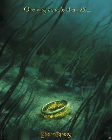 Poster affiche Lord of the rings Le seigneur des anneaux Anneau Unique